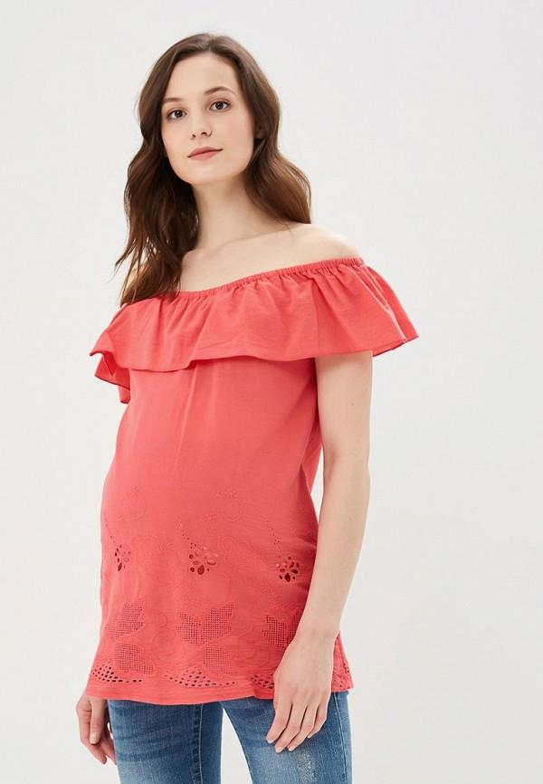 женская блузка очаровательная адель, оранжевая