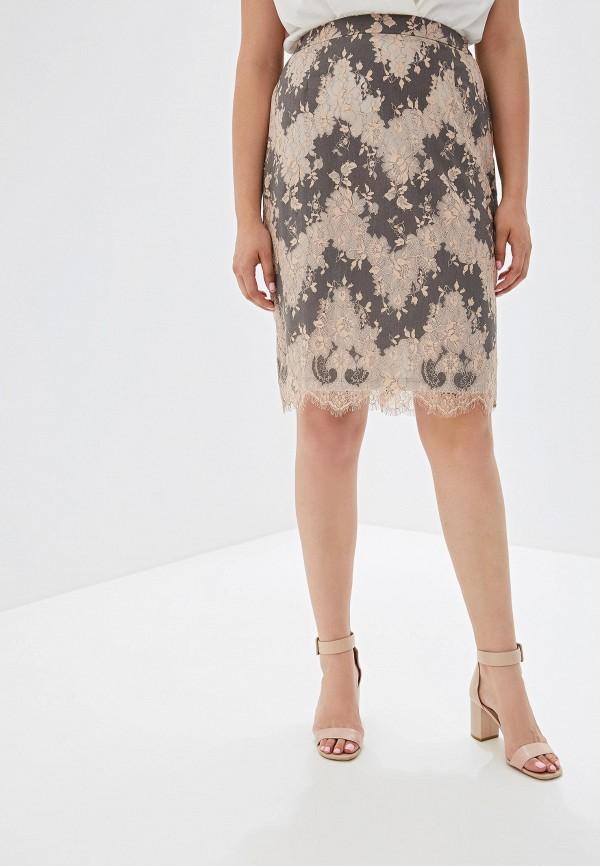 женская юбка luxury plus, серая