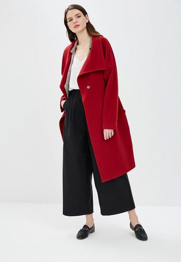 женское пальто la reine blanche, красное
