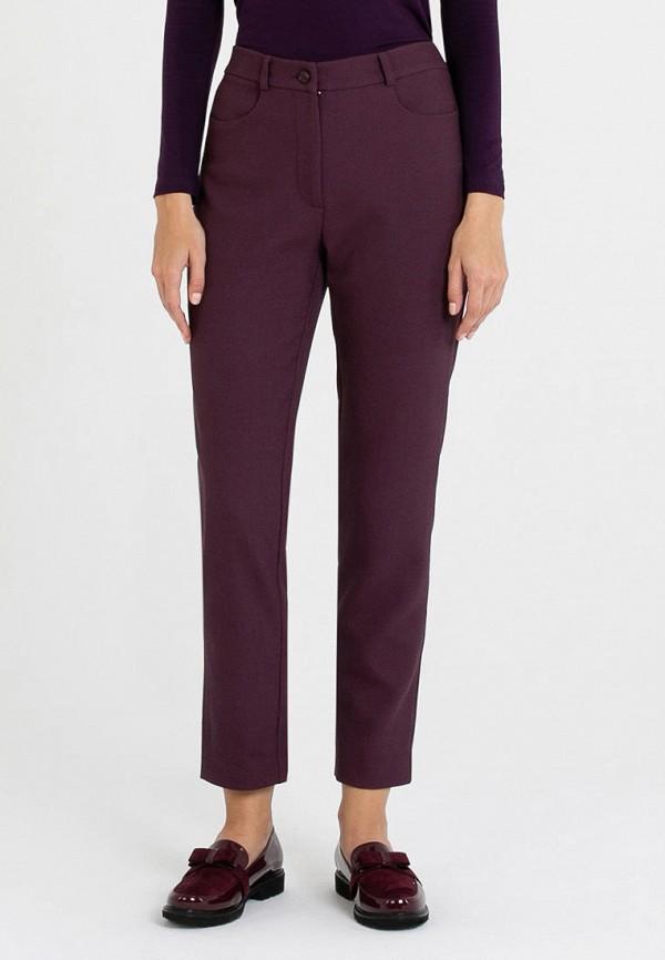 женские классические брюки petit pas, бордовые