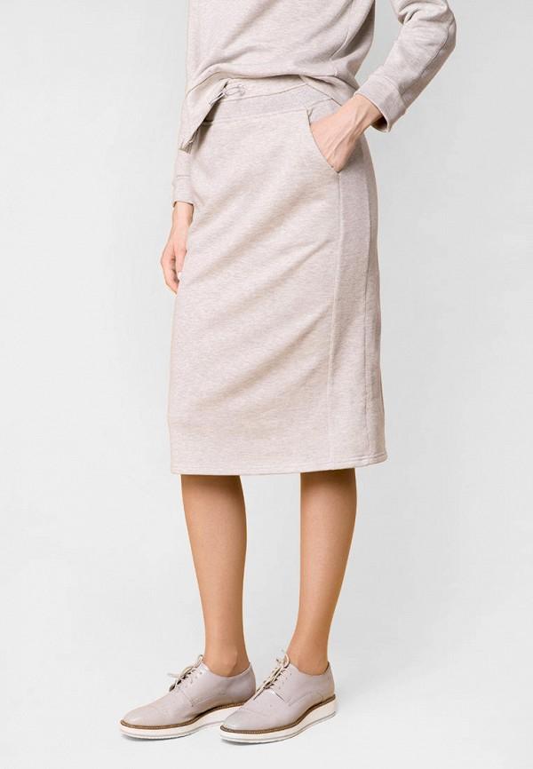 женская прямые юбка mr520, серая