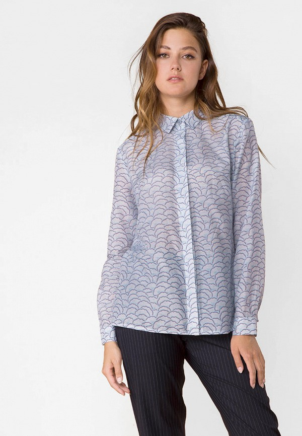 женская блузка mr520, голубая