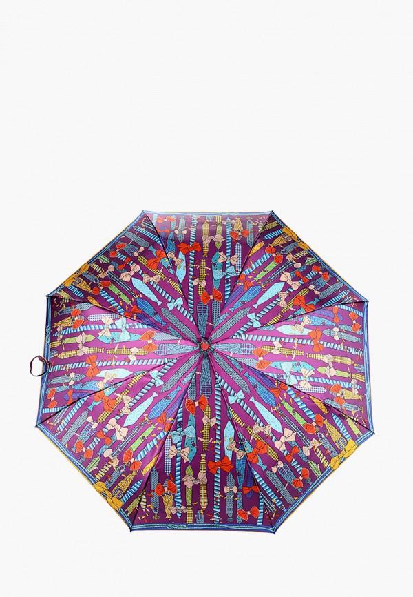 женский складные зонт eleganzza, фиолетовый