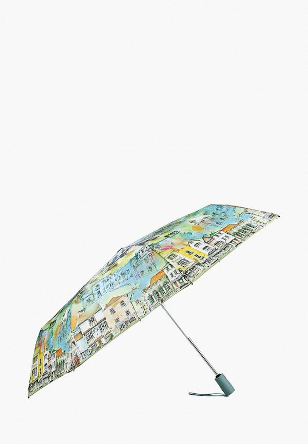 Фото 2 - Зонт складной Eleganzza зеленого цвета