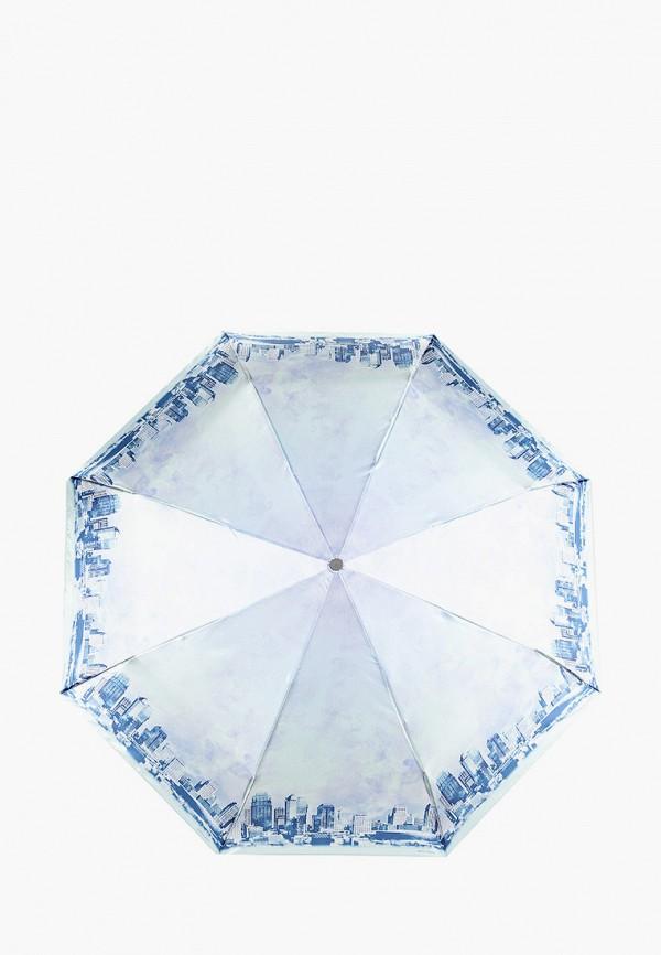 женский складные зонт eleganzza, бирюзовый