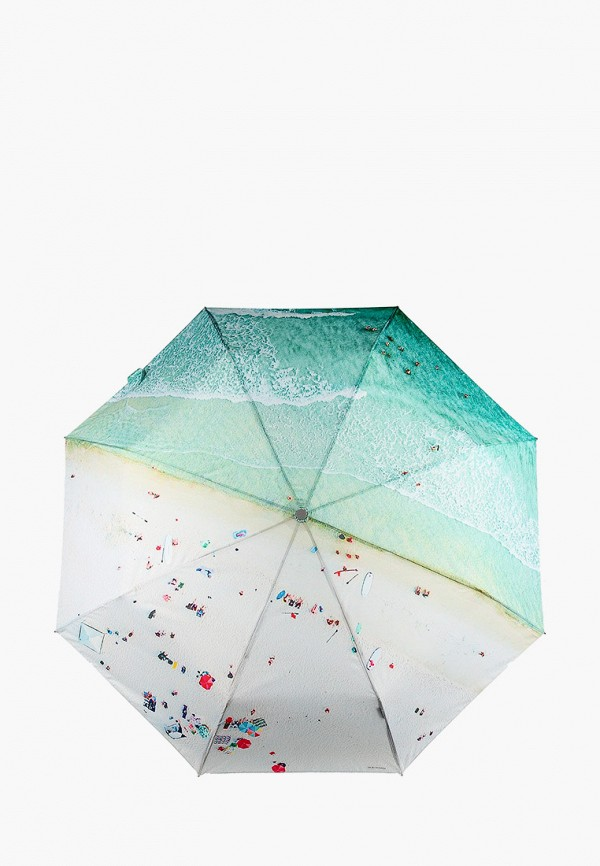 женский складные зонт eleganzza, зеленый