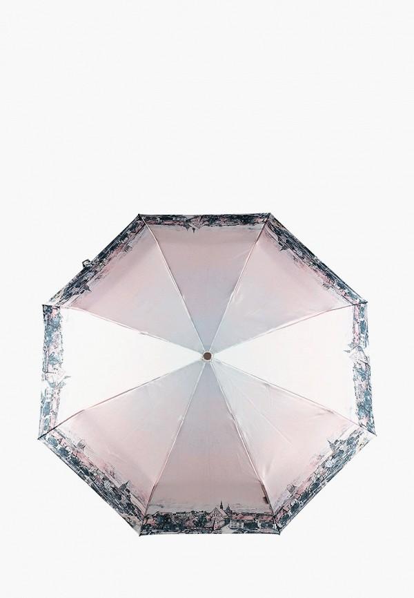 женский складные зонт eleganzza, розовый
