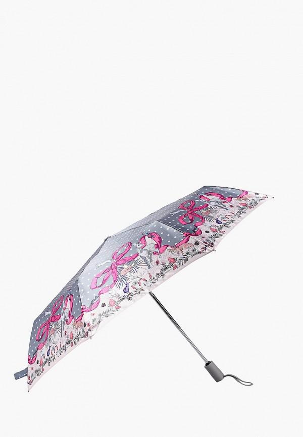 Фото 2 - Зонт складной Eleganzza серого цвета