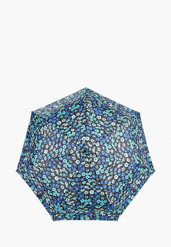 женский складные зонт labbra, синий
