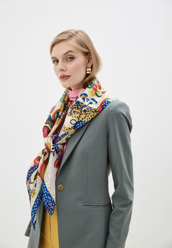 Фото 3 - Женский платок Eleganzza желтого цвета