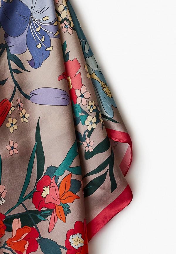 Фото 2 - Женский платок Eleganzza коричневого цвета