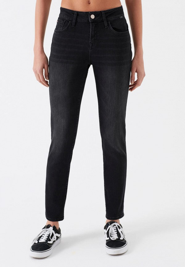женские джинсы скинни mavi, черные