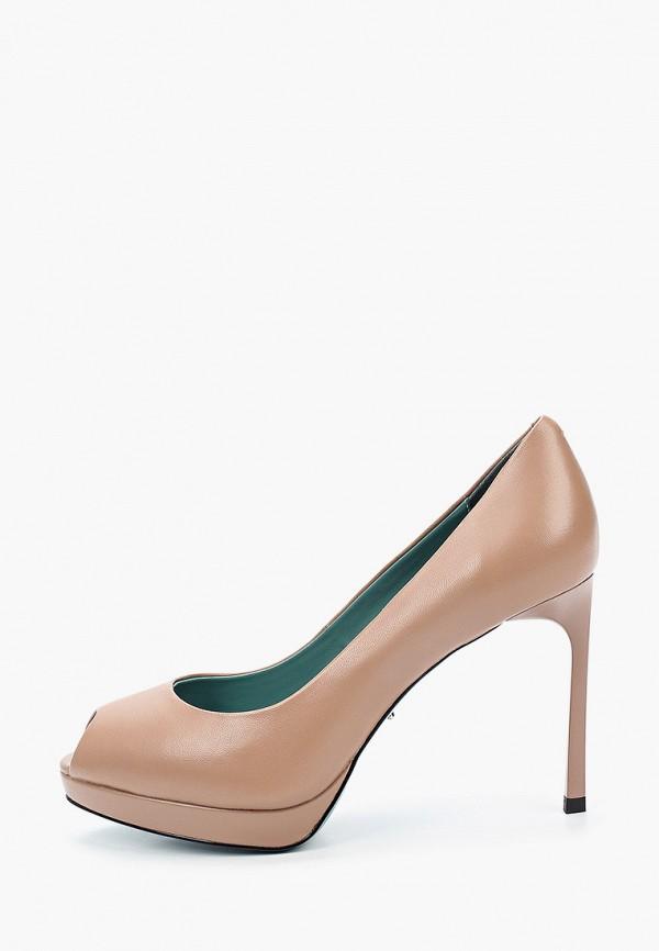 женские туфли с открытым носом vitacci, бежевые