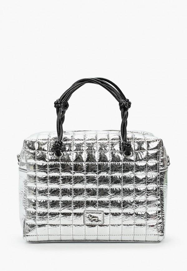 женская сумка с ручками labbra, серебряная