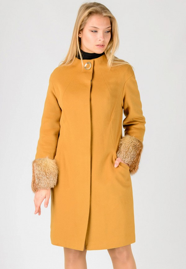 женское пальто raslov, желтое