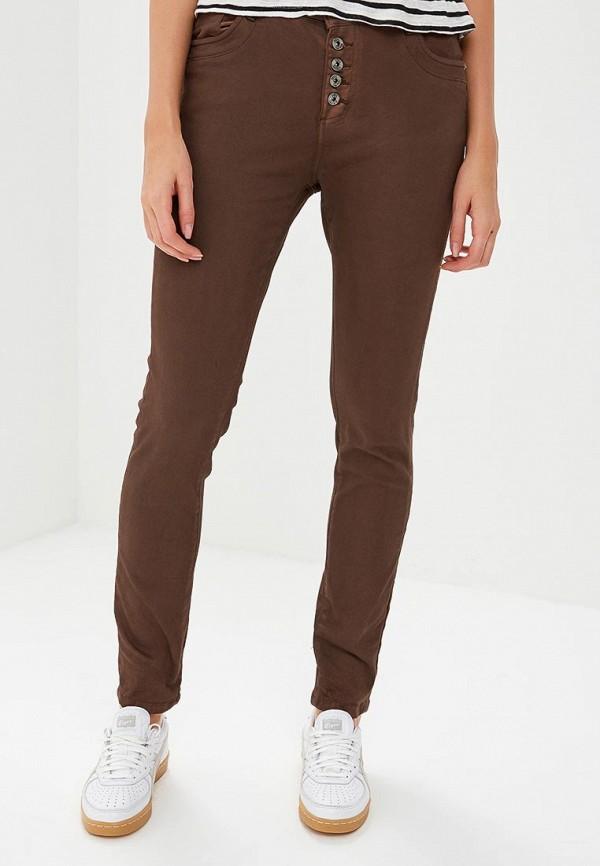 женские джинсы бойфренд blue monkey, коричневые