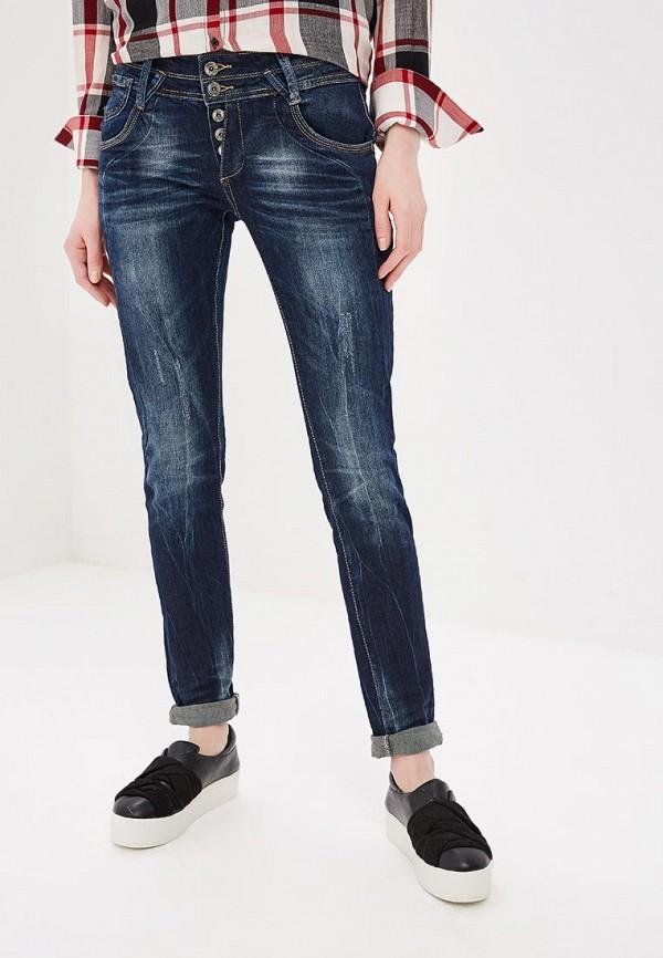 женские прямые джинсы blue monkey, синие