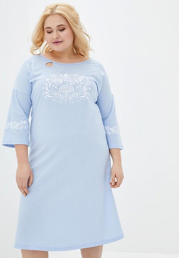 женское платье роза, голубое
