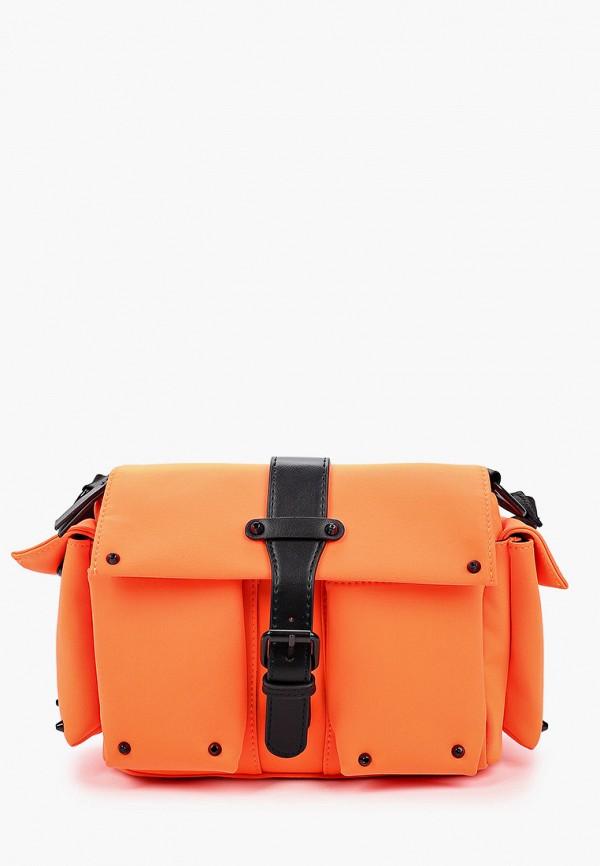 женская сумка через плечо labbra, оранжевая