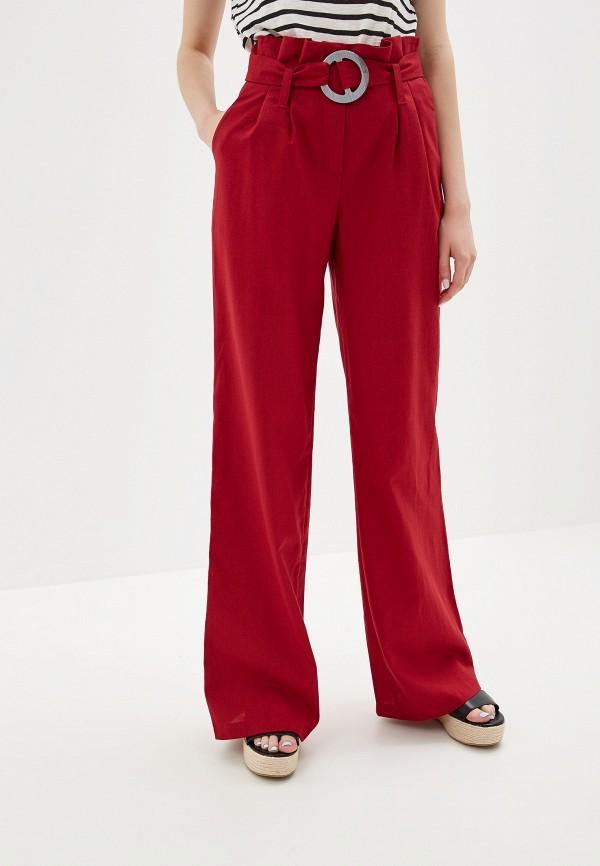 женские брюки vera nicco, красные