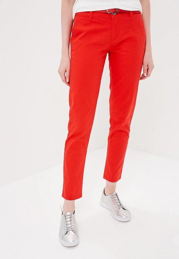 женские зауженные брюки top secret, красные