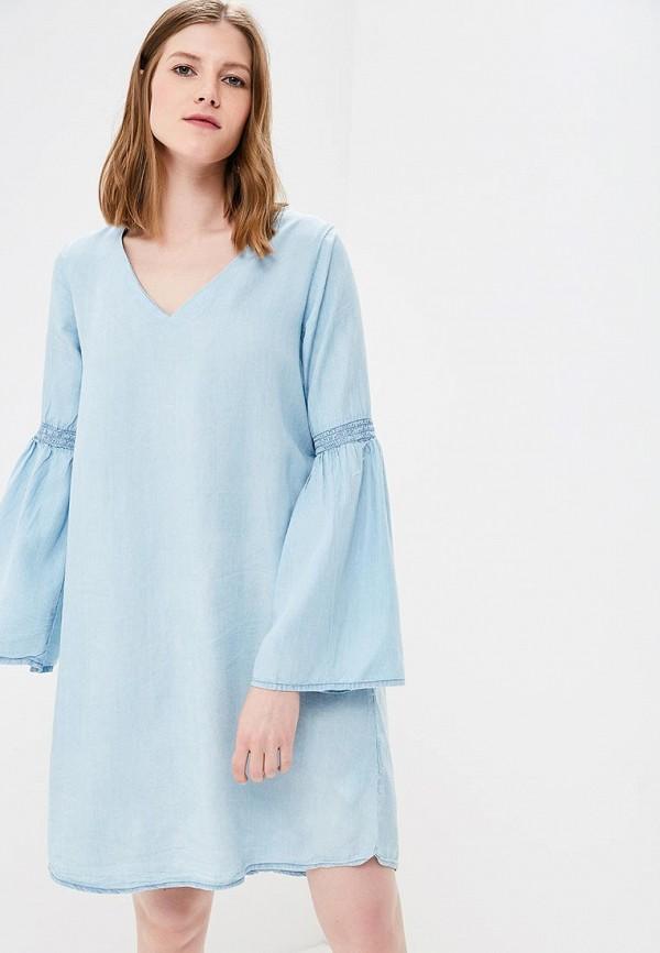 женское джинсовые платье top secret, голубое