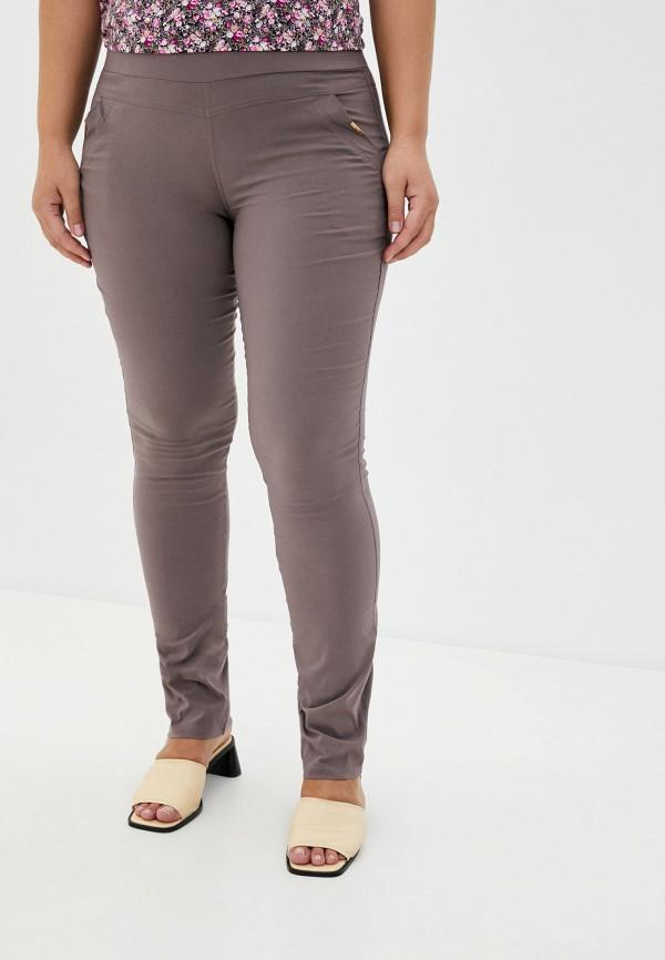 женские зауженные брюки полное счастье, коричневые