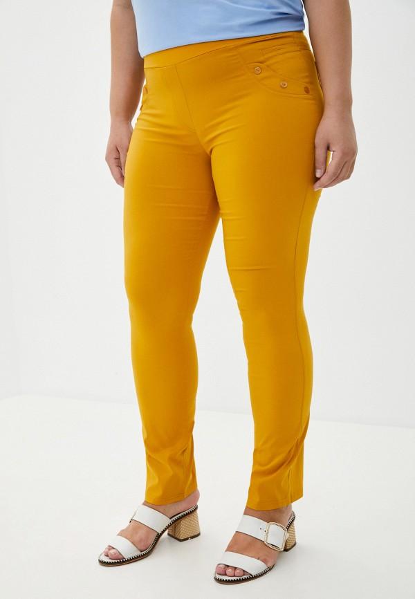 женские повседневные брюки полное счастье, желтые