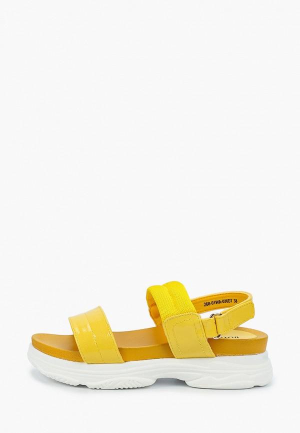 женские сандалии instreet, желтые