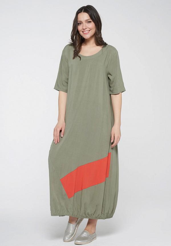 женское повседневные платье vay, хаки