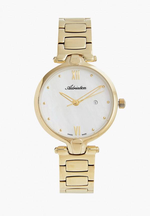 женские часы adriatica, золотые
