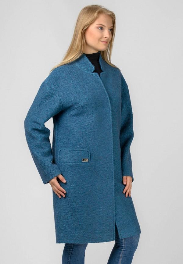 женское пальто raslov, голубое