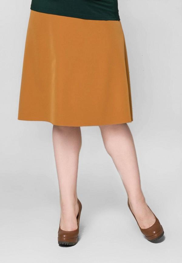 женская юбка-трапеции космея, желтая