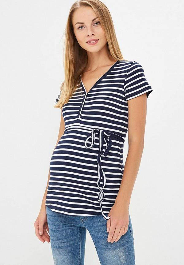 женская футболка с коротким рукавом hunny mammy, синяя