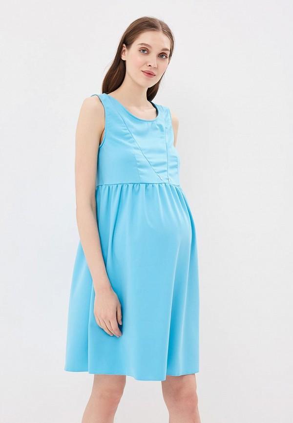 женское повседневные платье hunny mammy, бирюзовое