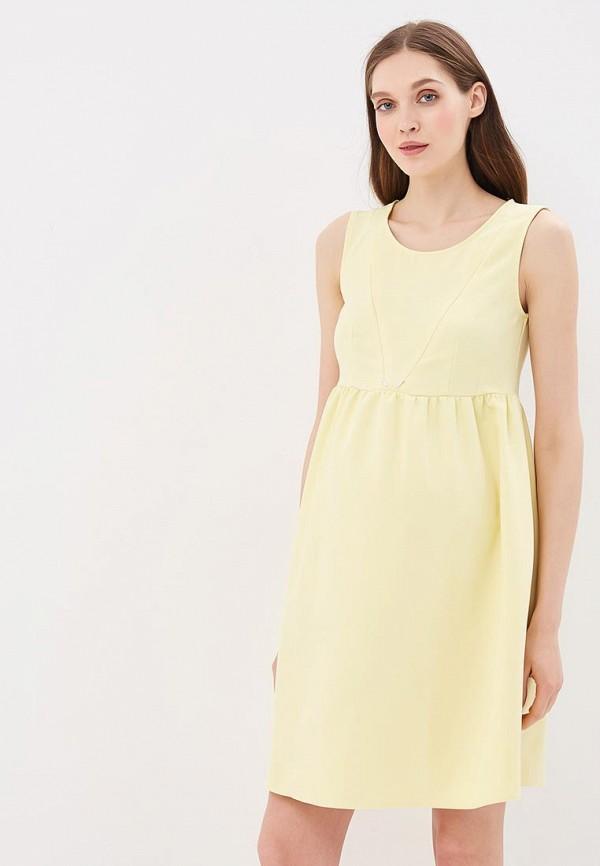 женское повседневные платье hunny mammy, желтое