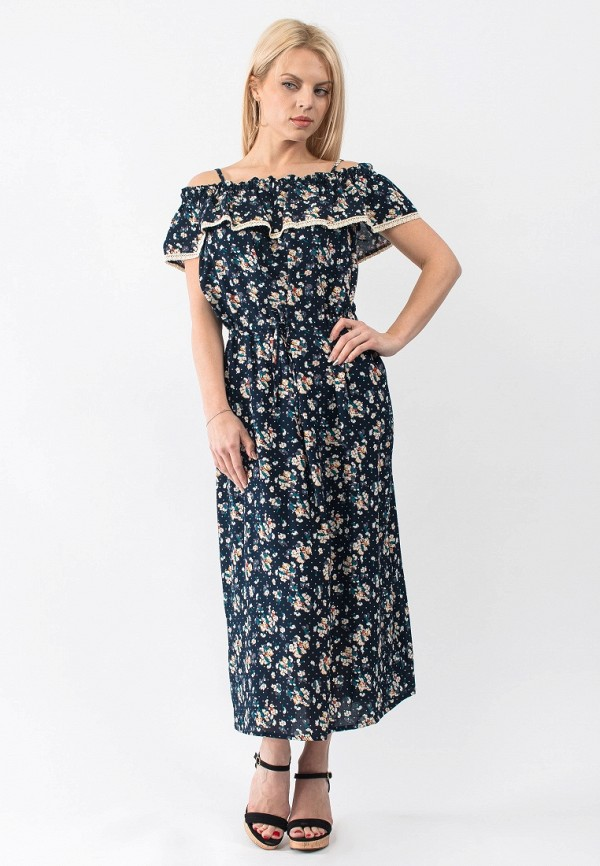 Купить Платье Gloss, MP002XW18TWO, синий, Весна-лето 2018