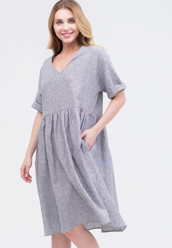 Фото - Женское платье Mayclothes серого цвета