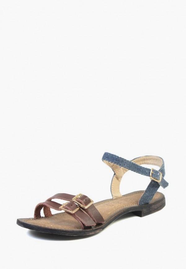 женские сандалии airbox, коричневые