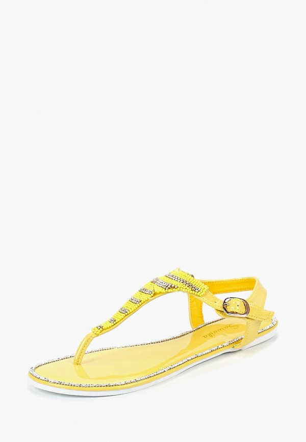 Сандалии Saivvila Saivvila MP002XW18UAJ мода женщин сандалии flock party weddng обувь партии желтый цвет сандалии плюс размер a012 77