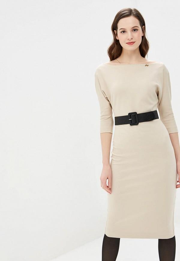 женское повседневные платье bezko, бежевое
