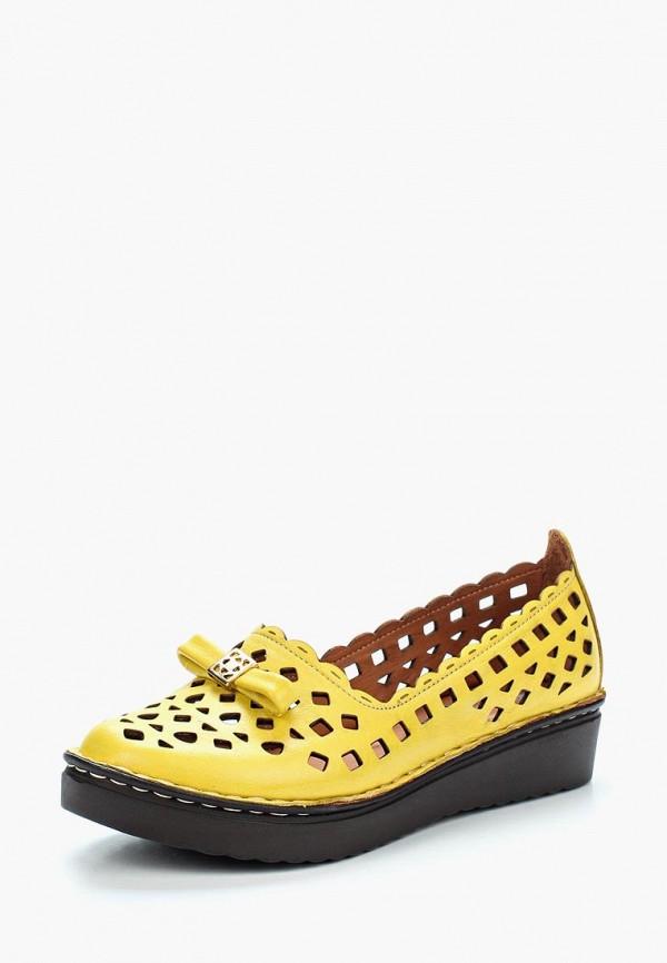 женские туфли с закрытым носом vitacci, желтые