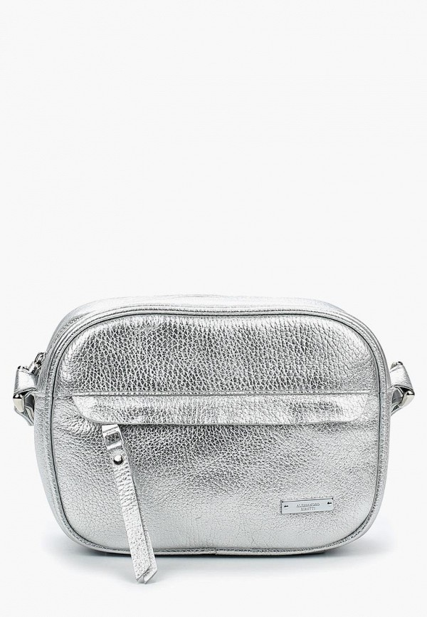 женская сумка alessandro birutti, серебряная
