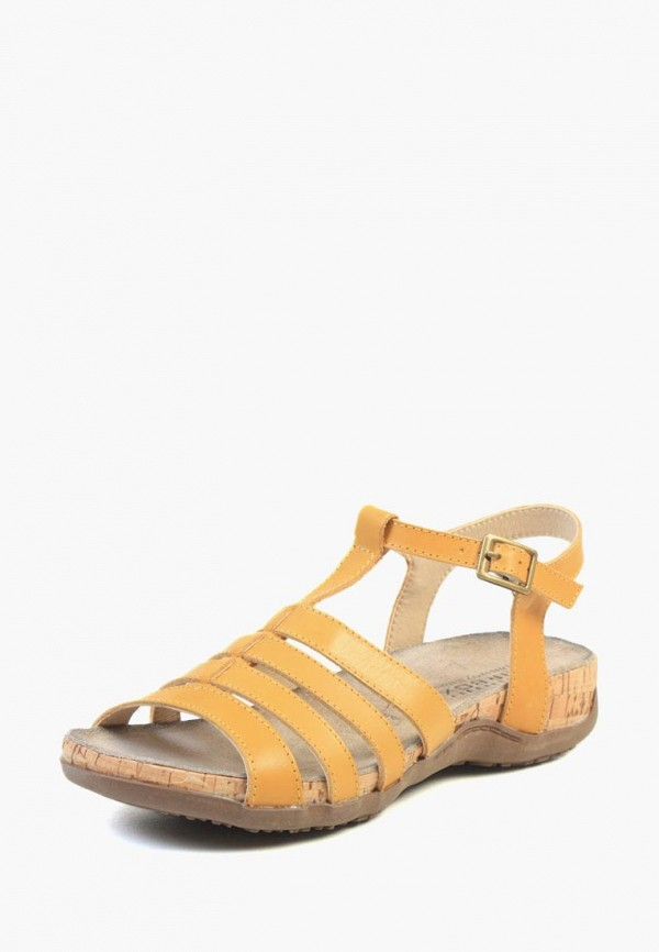 женские сандалии airbox, желтые