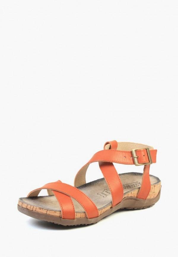 женские сандалии airbox, оранжевые