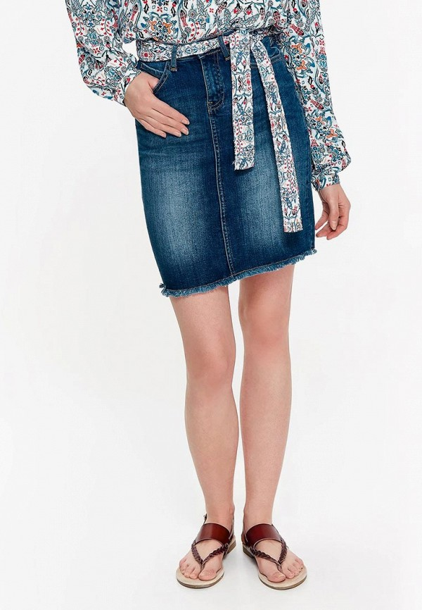 Купить Юбка джинсовая Top Secret, MP002XW18W44, синий, Весна-лето 2018
