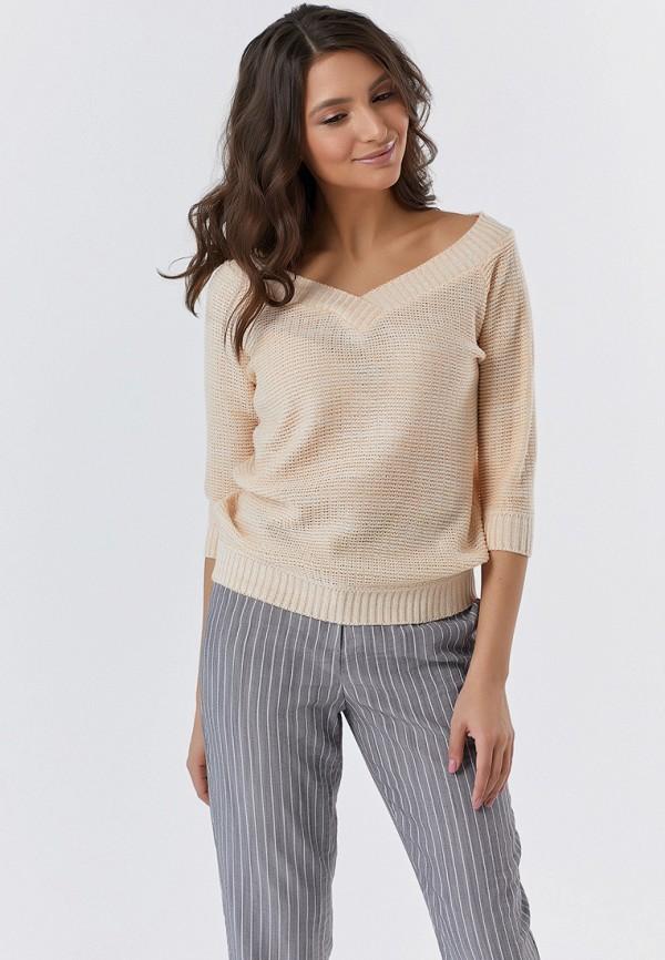 женский пуловер fly, бежевый