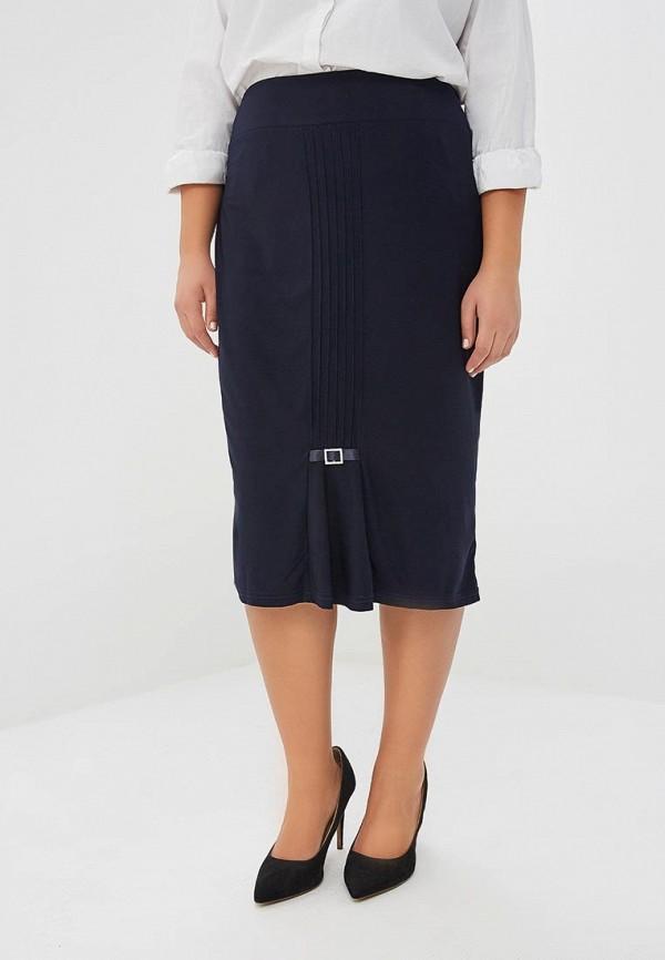 женская прямые юбка olsi, синяя