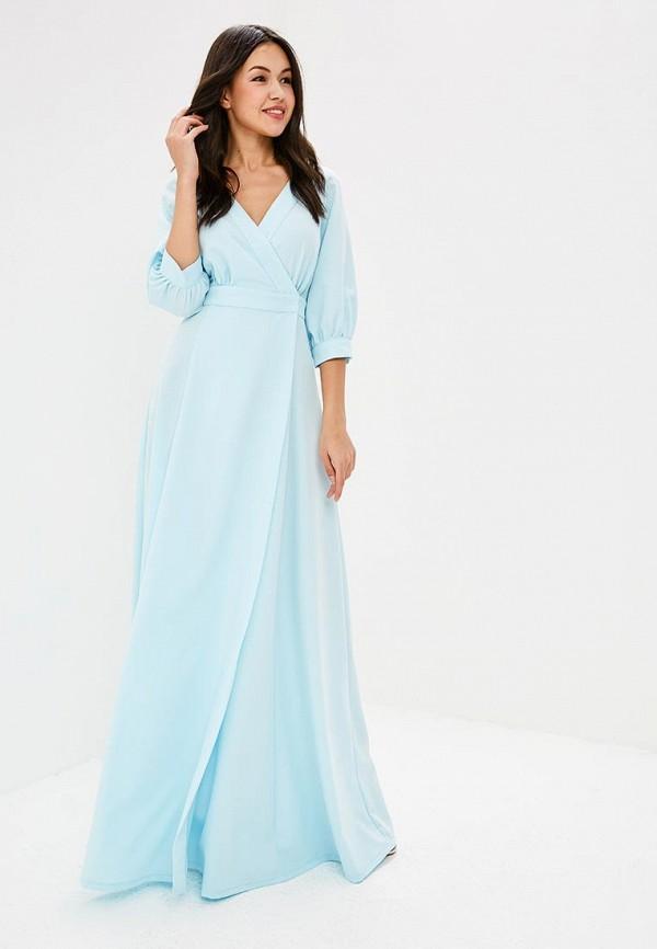 женское повседневные платье zerkala, голубое