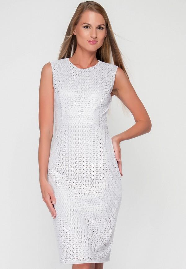 женское платье миди limonti, белое